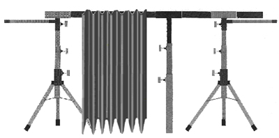 Lightweight portable stage curtain
